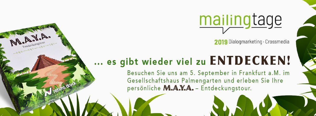 Permalink auf:Mailingtage 2019 – Besuchen Sie uns am 5. September in Frankfurt